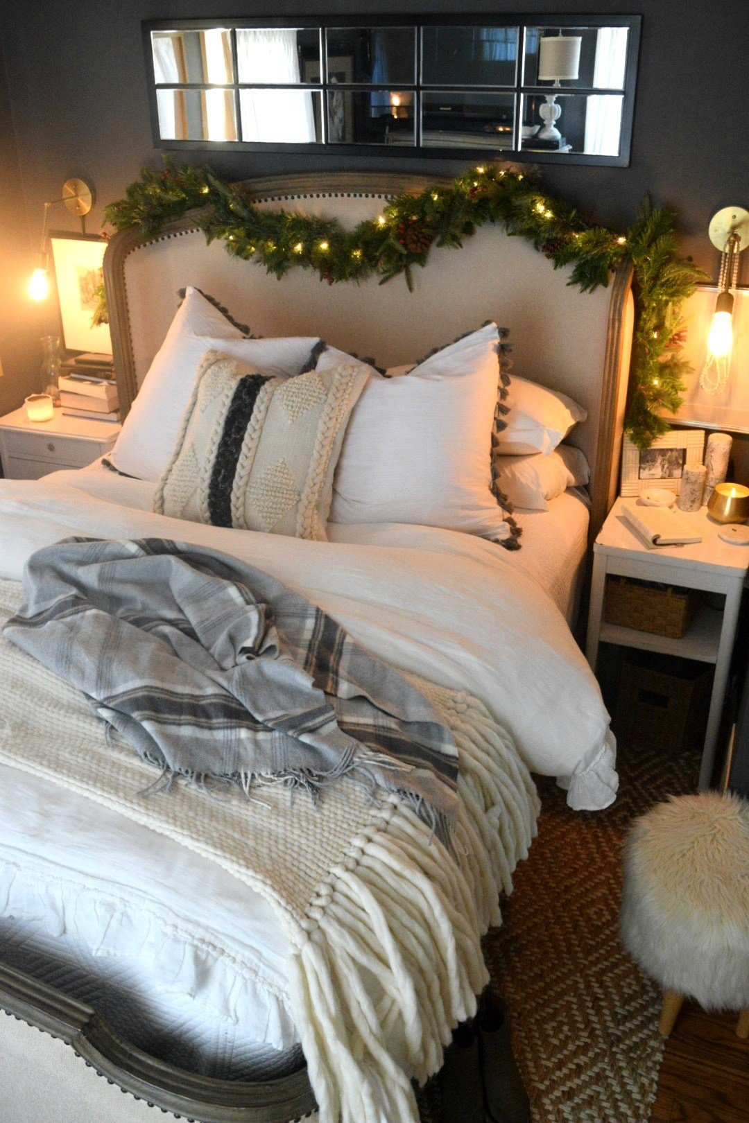 Best Christmas Bedroom Simple Winter Touches Nesting With Grace With Pictures