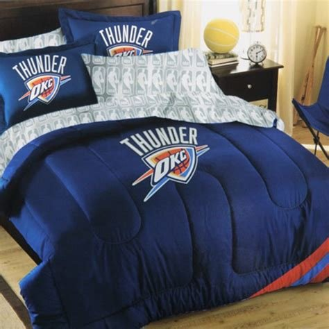 Best Oklahoma City Thunder 7 Piece Full Size Bedding Set Nba With Pictures