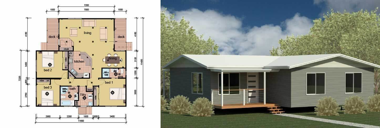 Best The Lewin 3 Bedroom 2 Bathroom Modular Home Parkwood Homes With Pictures
