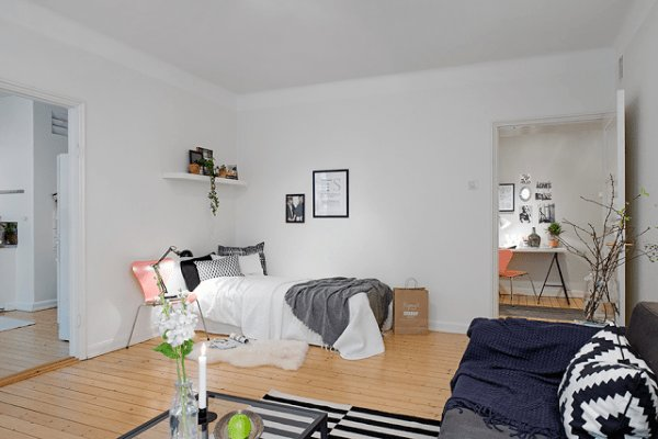Best Cute Apartment With Simple Black And White Decor With Pictures