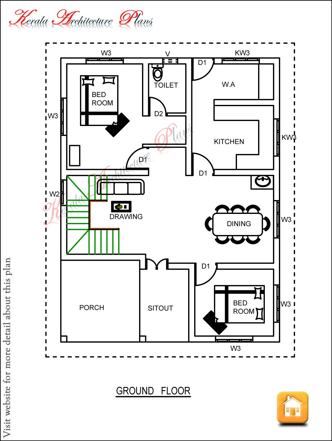 Best Three Bedroom House Plan Architecture Kerala With Pictures