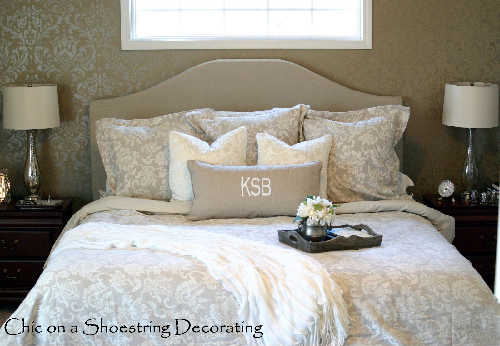 Best Chic On A Shoestring Decorating Neutral Master Bedroom Reveal With Pictures