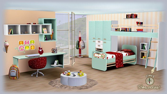 Best My Sims 3 Blog Little Wonders Bedroom Set By Simcredible Designs With Pictures