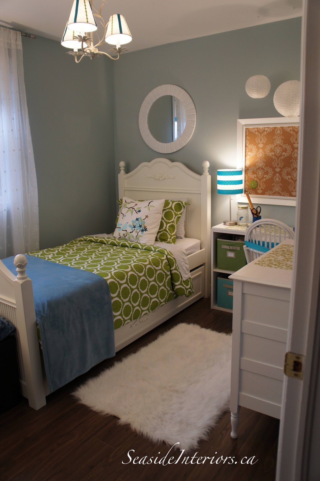 Best Seaside Interiors Going Blue Green Girls Room Redo With Pictures