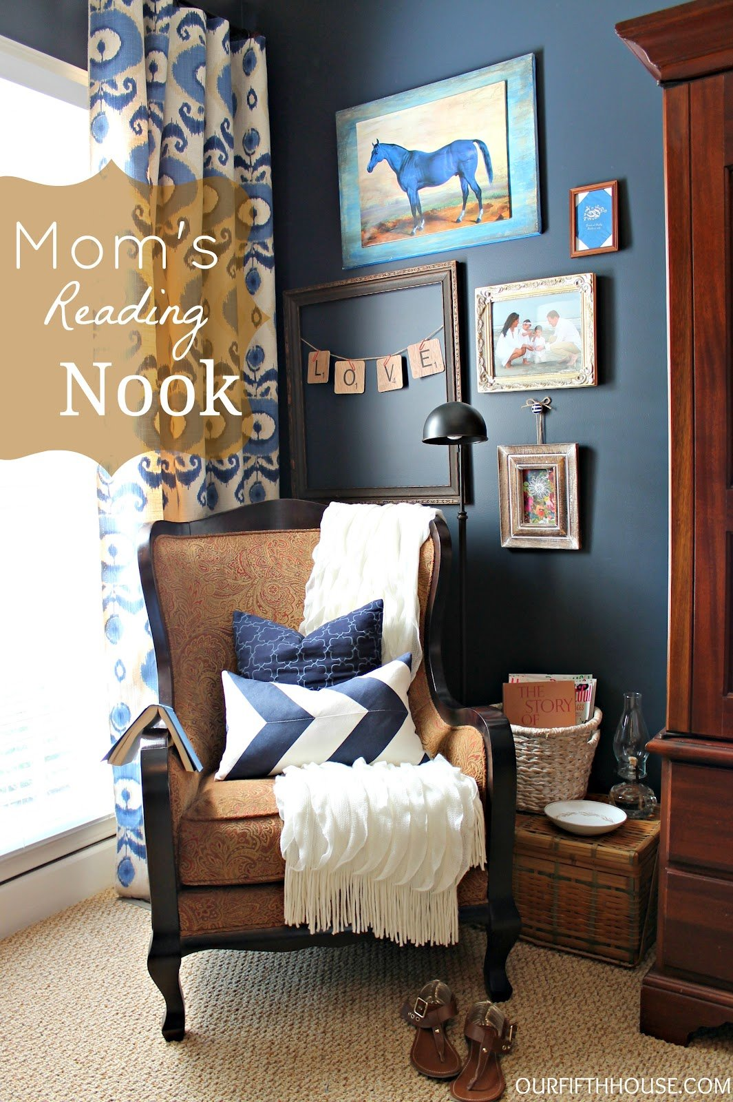 Best Mom S Reading Nook A K A My New Favorite Corner Of The House Our Fifth House With Pictures