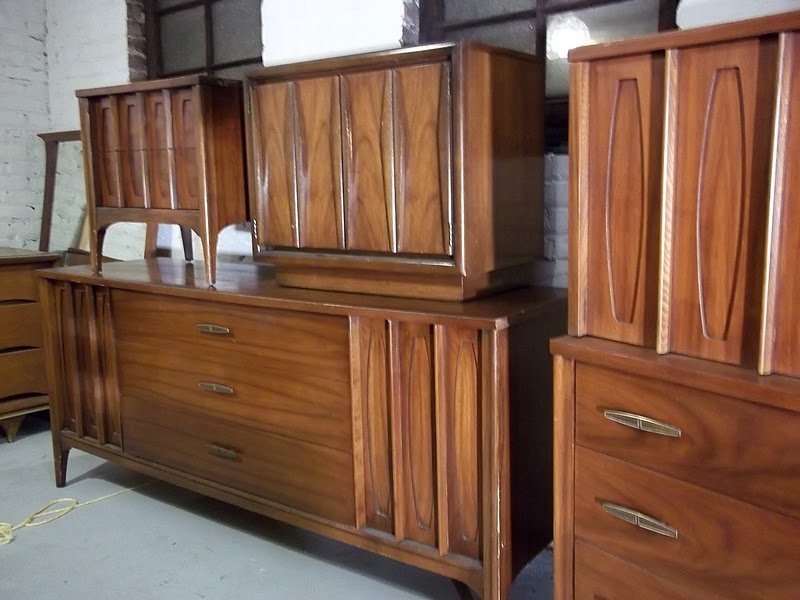 Best Mid Century Kent Coffey Town House 6 Piece Bedroom Set With Pictures