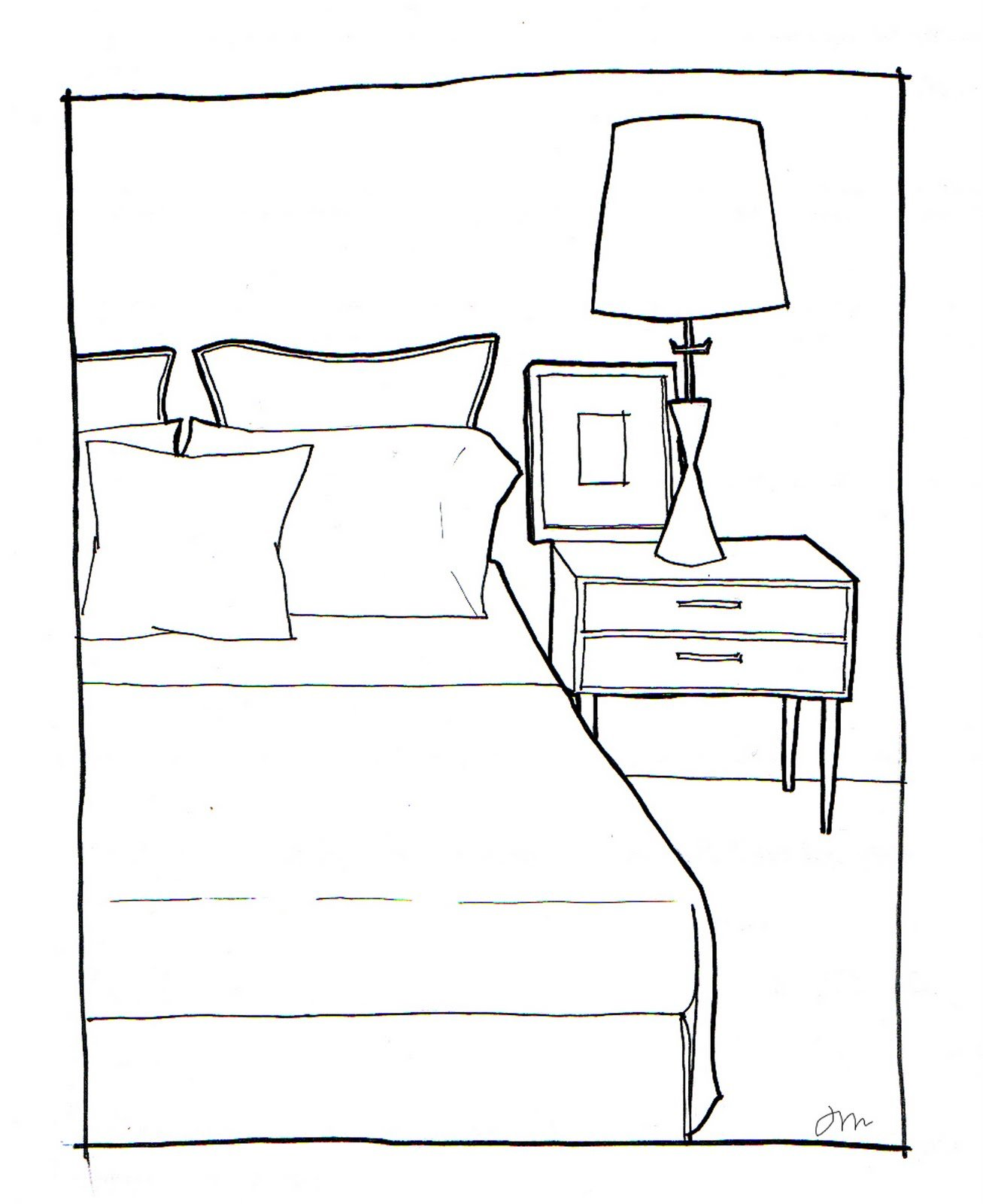 Best Rachel May Designs Bedroom Sketch With Pictures