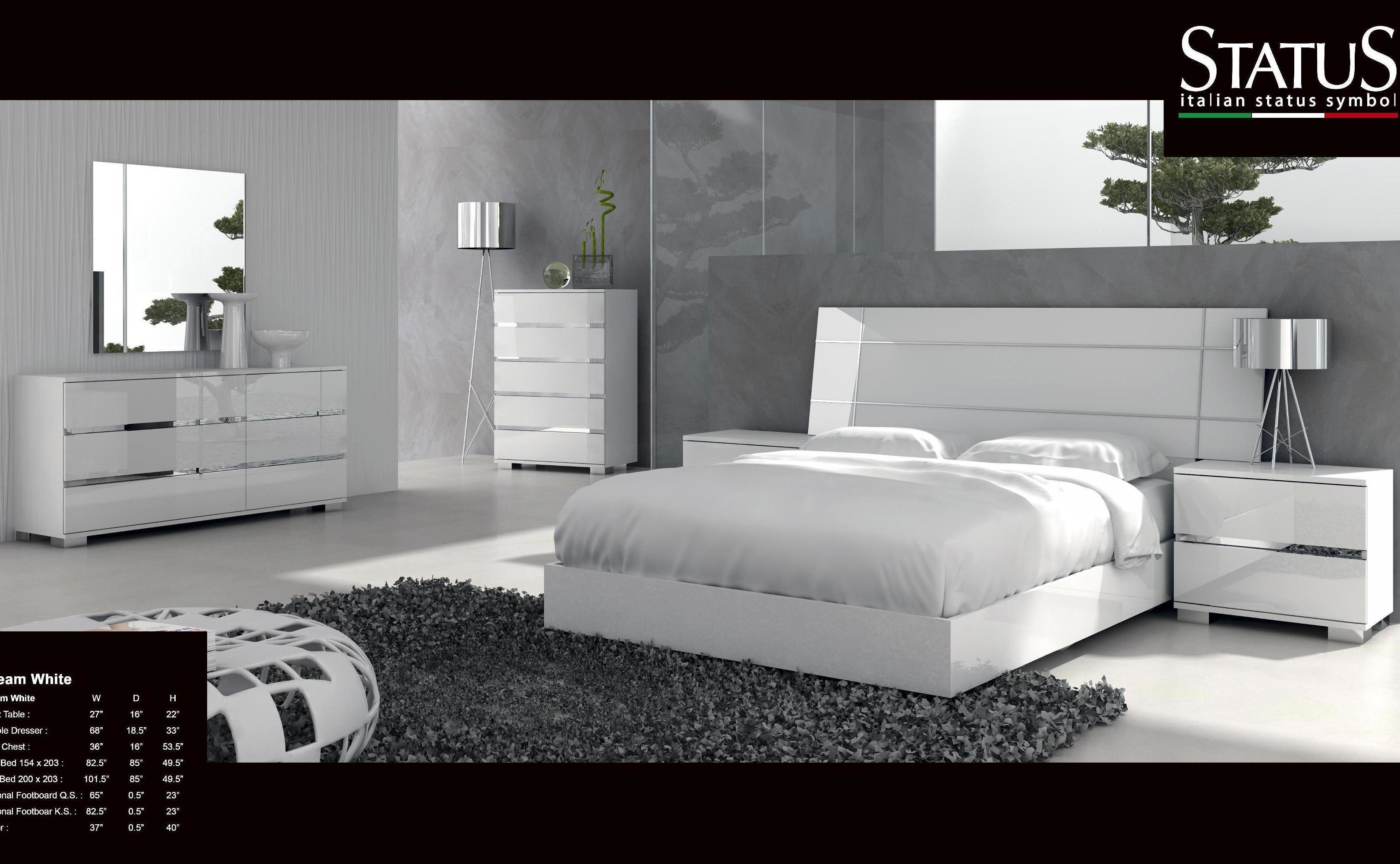 Best Dream King Size Modern Design Bedroom Set White 5 Pc Bed With Pictures