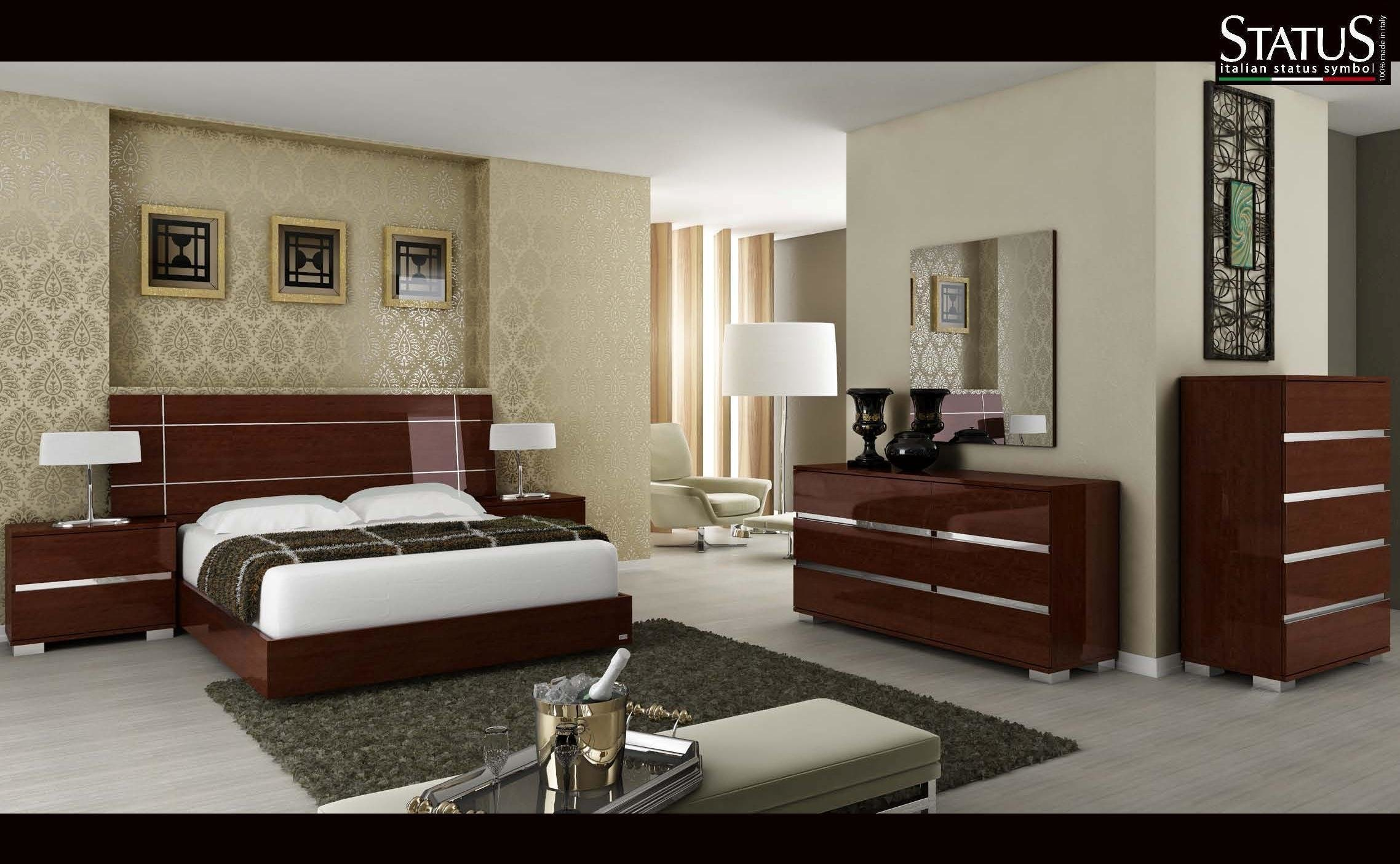 Best Dream King Size Modern Design Bedroom Set Walnut 5 Pc With Pictures