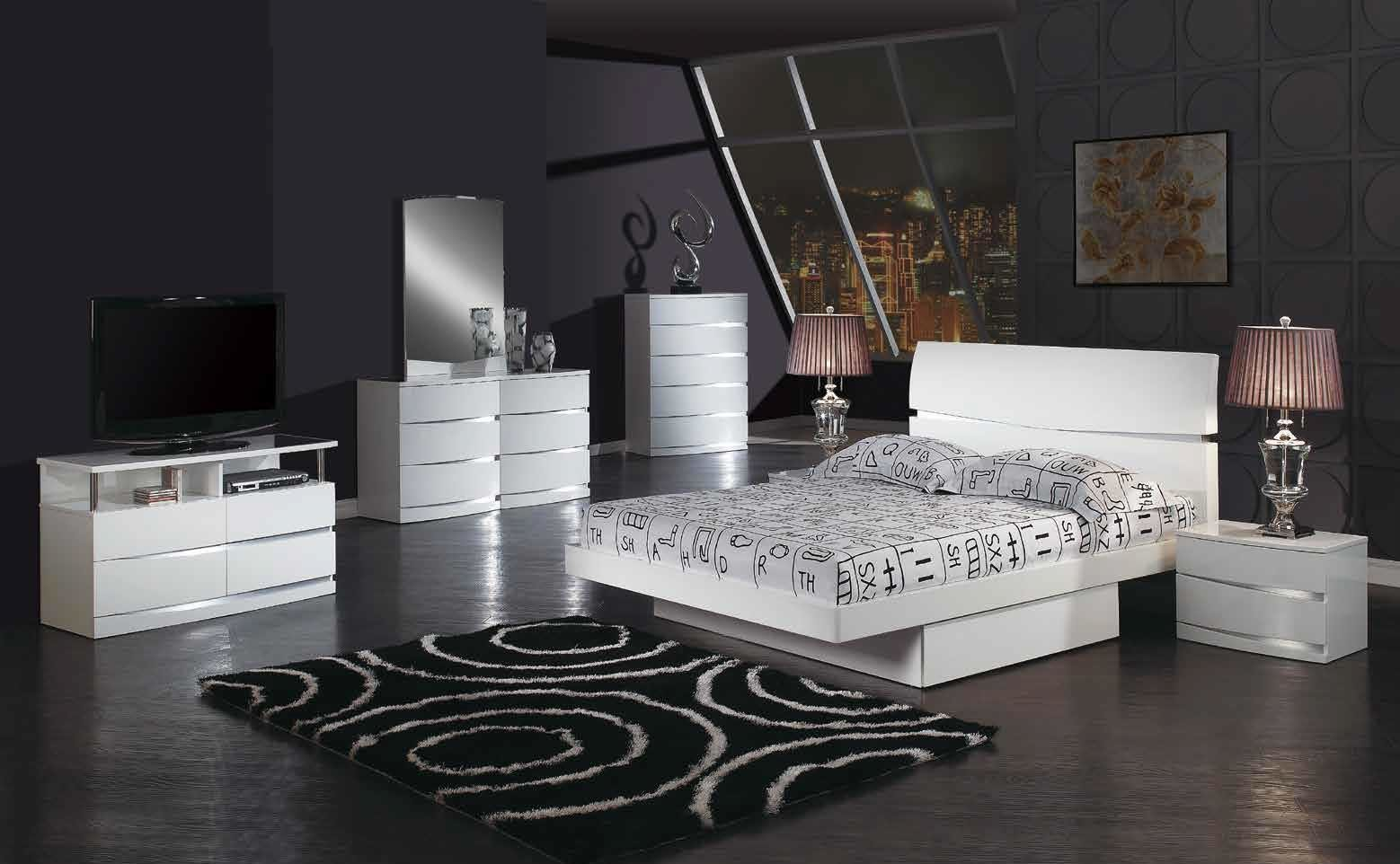 Best Aurora King Size Modern European Design Bedroom Set White With Pictures