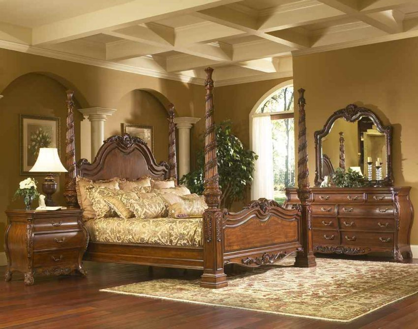 Best North Shore Sleigh Bedroom Set King Size Canopy Bed Frame With Pictures
