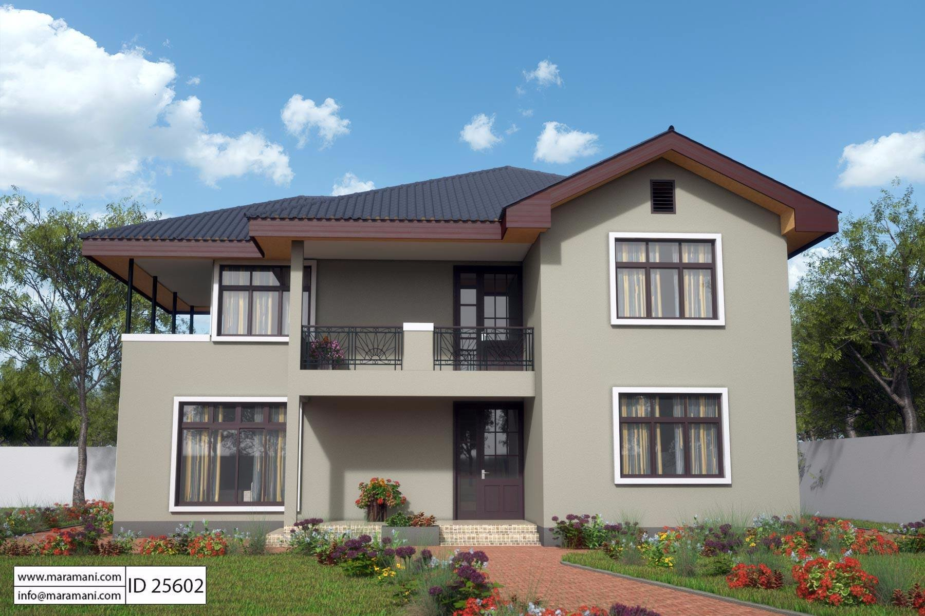 Best Compact 5 Bedroom House Design All Rooms Are Self Contained With Pictures