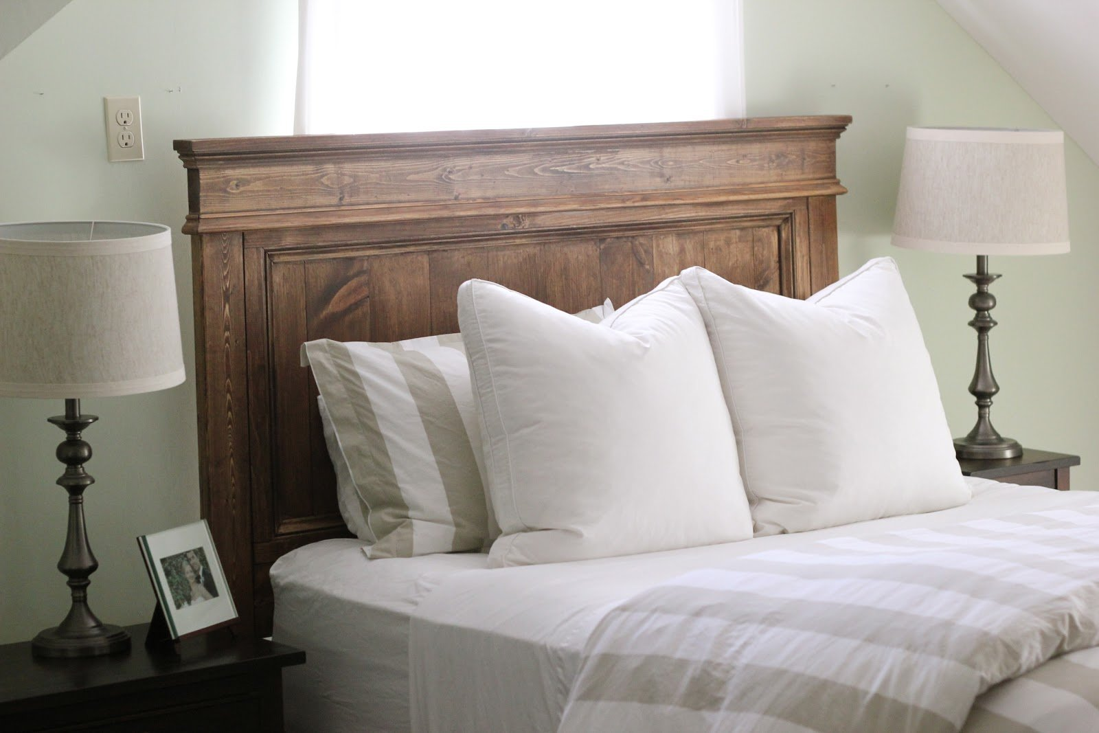 Best Jenny Steffens Hobick We Built A Bed Diy Wooden Headboard With Pictures