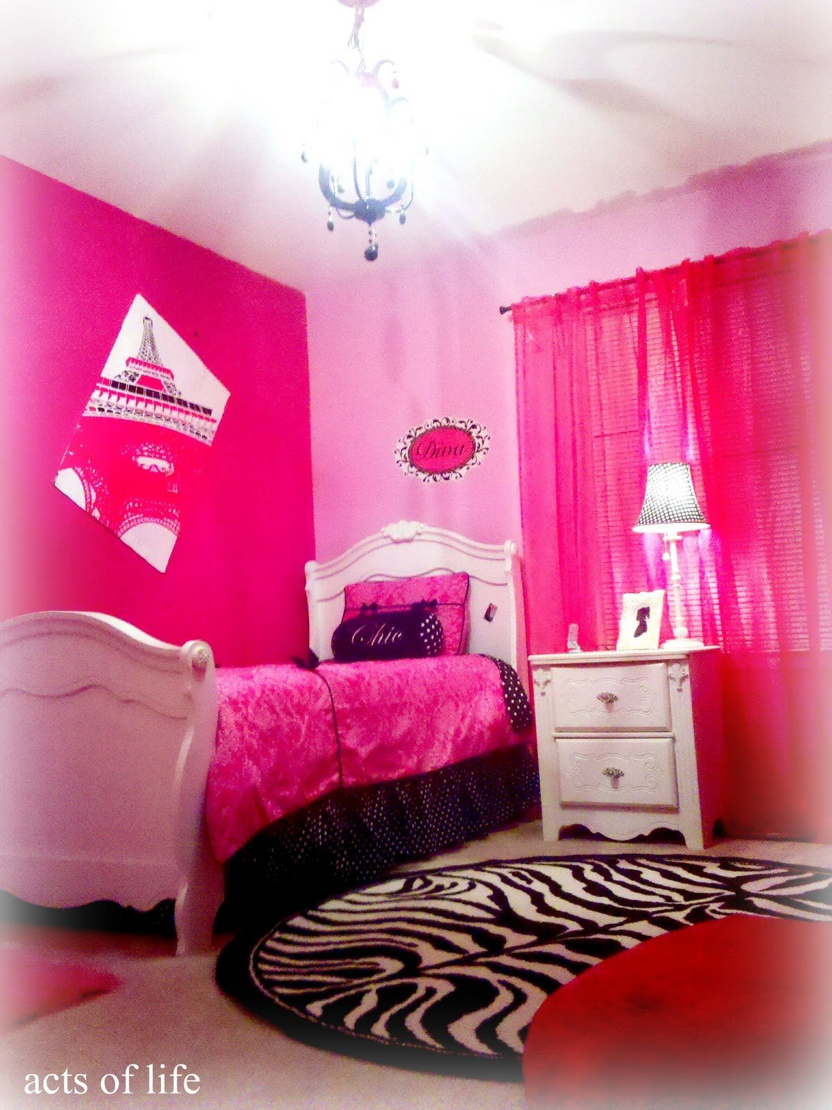 Best Acts Of Life Hot Pink Bedroom My Daughters Bedroom Project With Pictures
