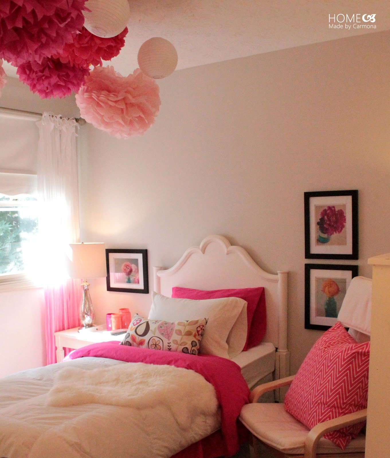 Best Princess Pink Bedroom Reveal Home Made By Carmona With Pictures