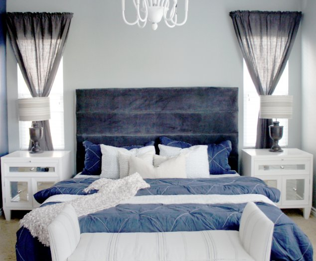 Best Cole Barnett Navy Blue And Gray Master Bedroom Remodel With Pictures