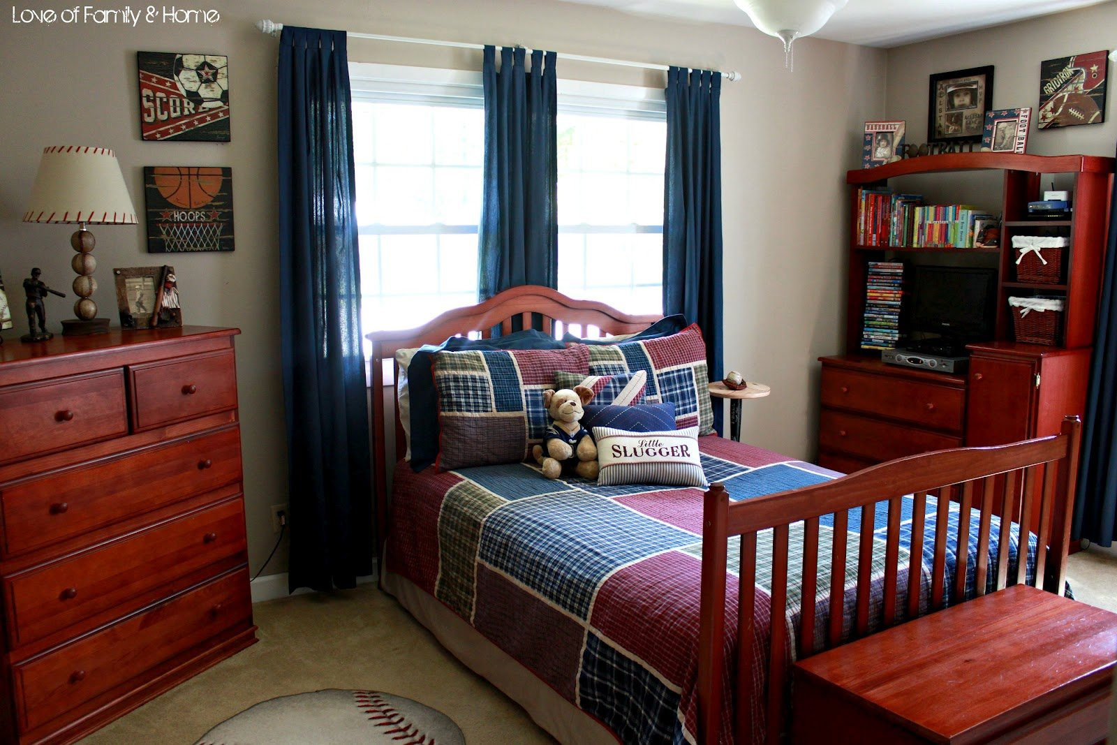 Best Parker S Room Vintage Baseball Boys Bedroom Love With Pictures