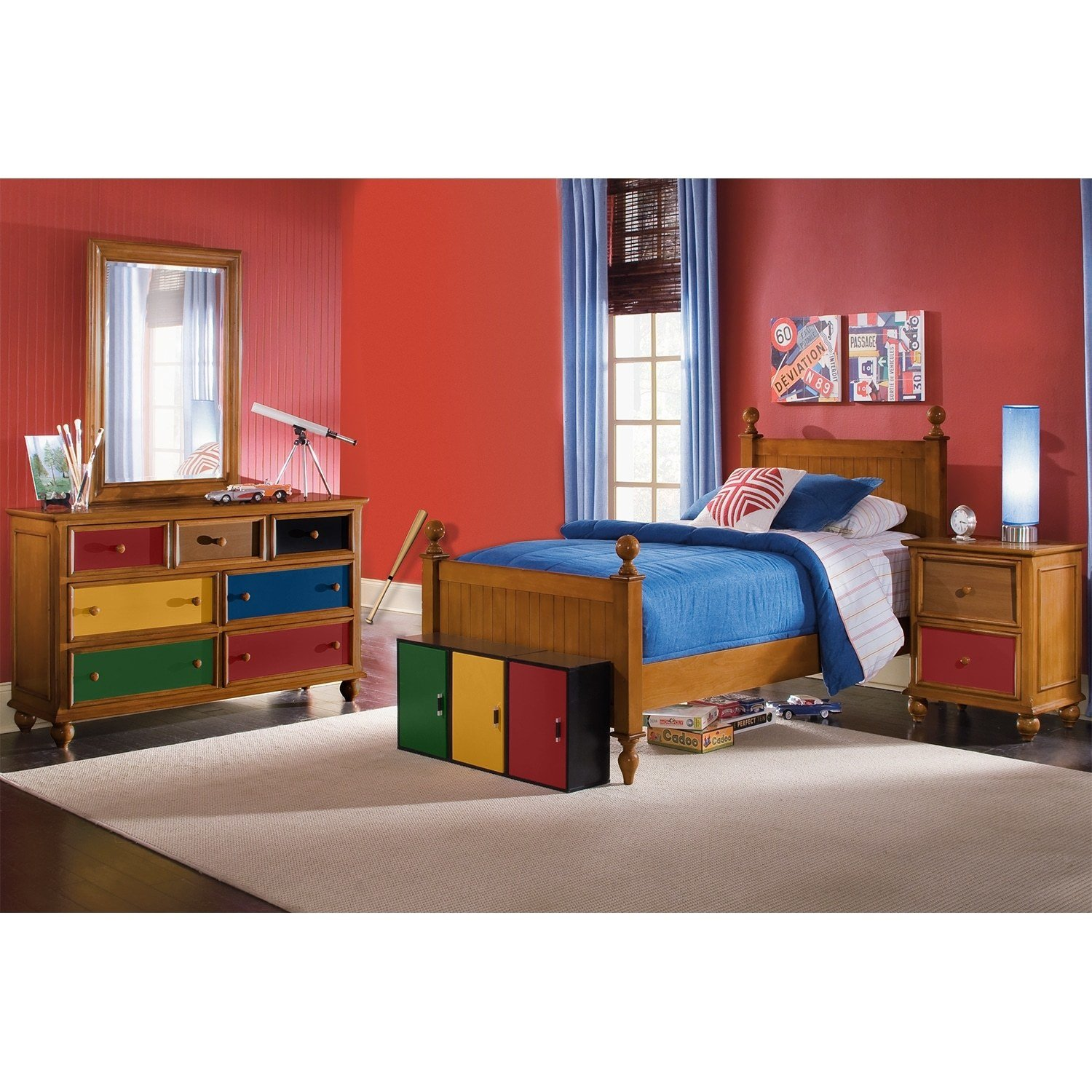 Best Colorworks Pine Kids Furniture 6 Pc Twin Bedroom Value With Pictures