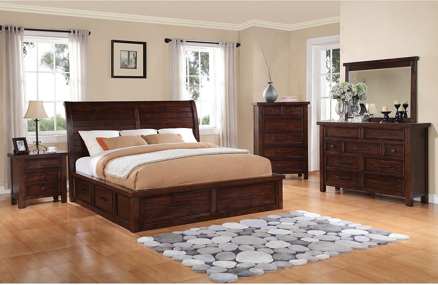 Best Sonoma 7 Piece King Storage Bedroom Set Dark Brown The With Pictures