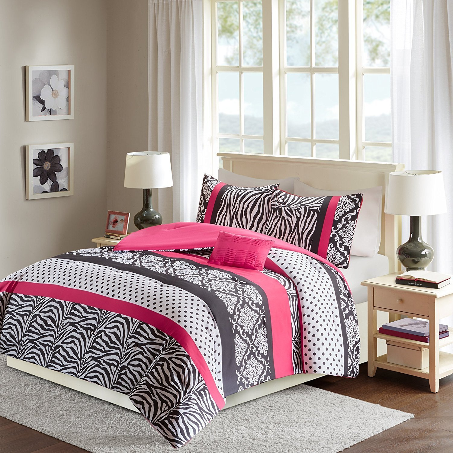 Best Pink And Black Zebra Bedding – Achieving A Stylish Child S With Pictures