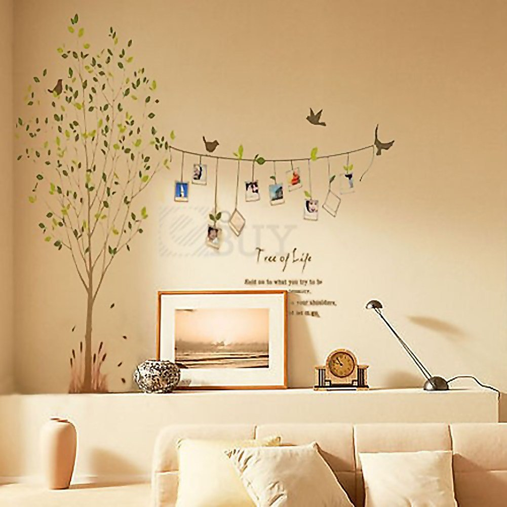 Best V*V*D Tree Words Photo Frame Removable Decal Wall Decor With Pictures