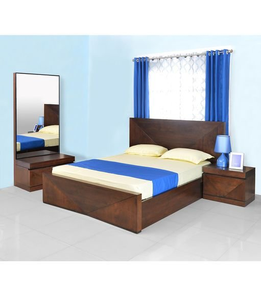 Best Buy Nixon King Bedroom Set Home By Nilkamal Cherry With Pictures