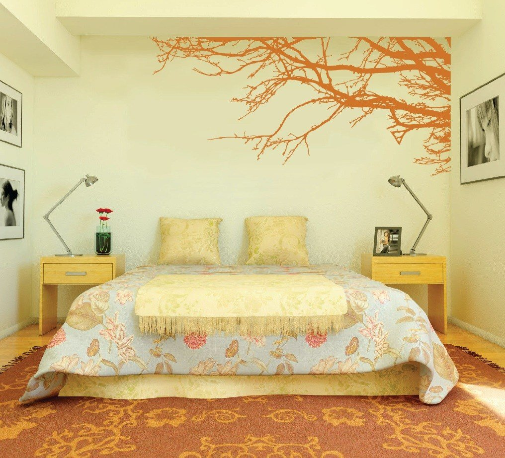 Best Large Wall Tree Nursery Decal Oak Branches 1130 Innovativestencils With Pictures