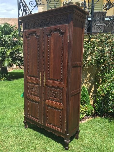 Best Antique French Normandy Bedroom Armoire In Oak Large With Pictures