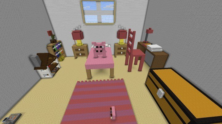 Best Giant Pink Bedroom Minecraft Project With Pictures