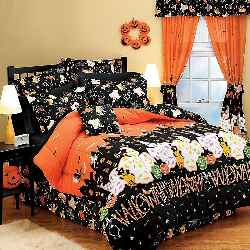 Best Halloween Haunted House Ghosts Decor Full Bedding Set Ebay With Pictures