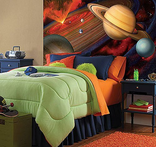 Best Space Galaxy Large 48 X 72 Inch Solar System Wall Accent With Pictures