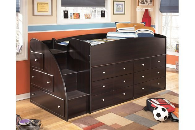 Best Loft Storage Bed By Ashley Furniture Furniture Mall Of With Pictures
