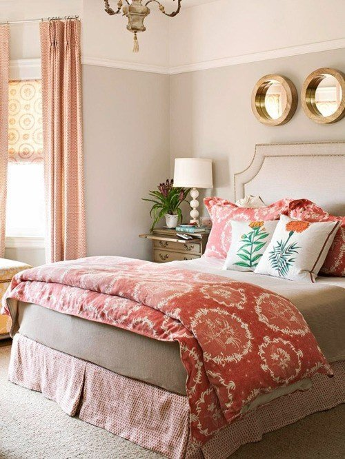Best Coral And Gray Bedroom Love Sublime Decorsublime Decor With Pictures