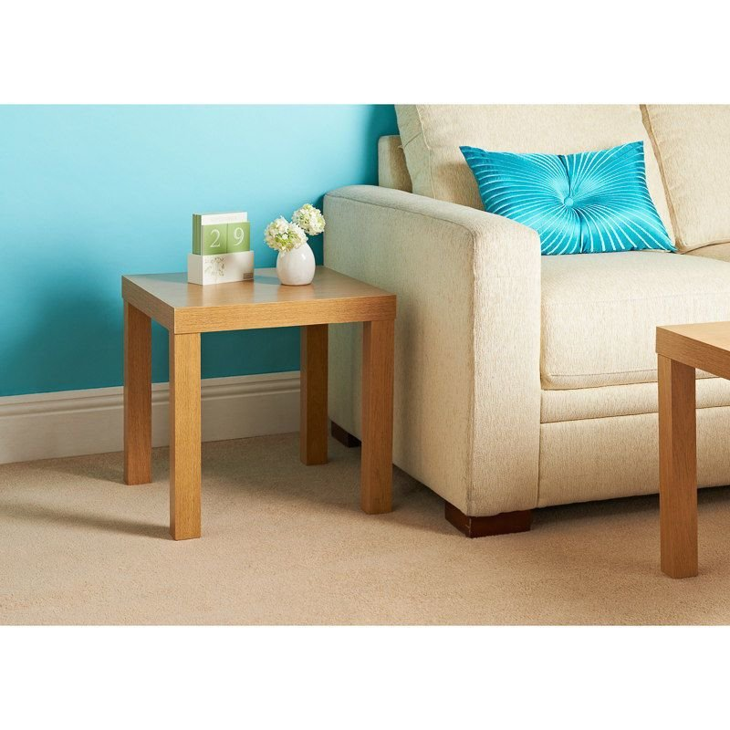 Best Modern Oak Effect Wooden Coffee Tea Side Table Bedroom With Pictures