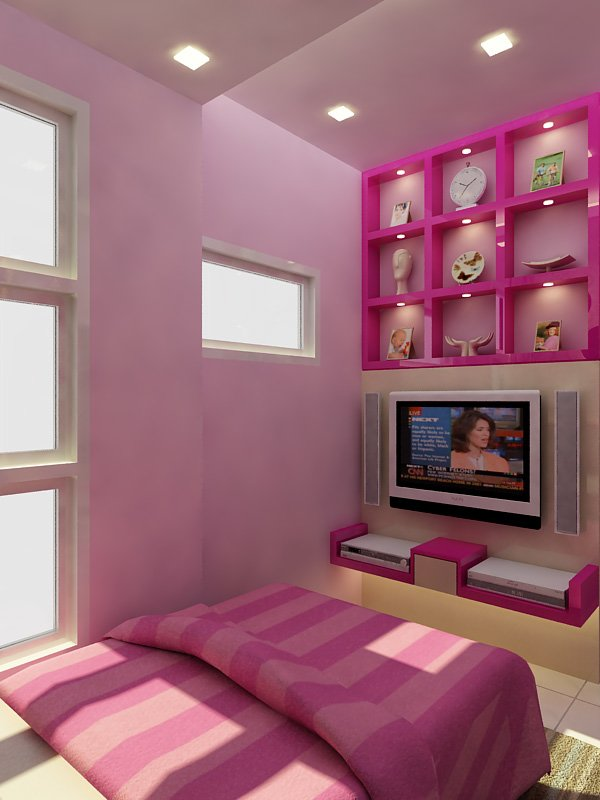 Best Small Bedroom With A Minimalist Color Combination Of Pink With Pictures