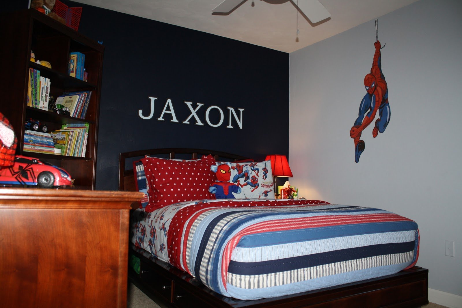 Best Bolling With 5 Jax S Spiderman Room Is Finally Complete With Pictures