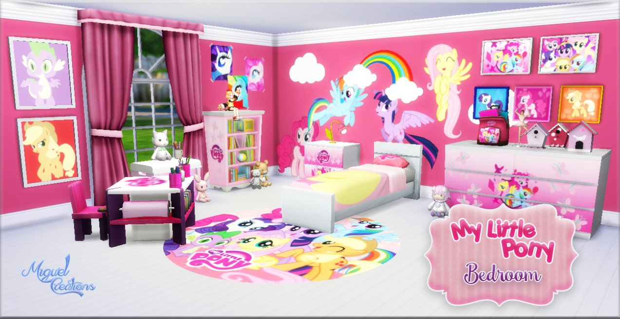 Best My Sims 4 Blog My Little Pony Bedroom Set By Miguel With Pictures