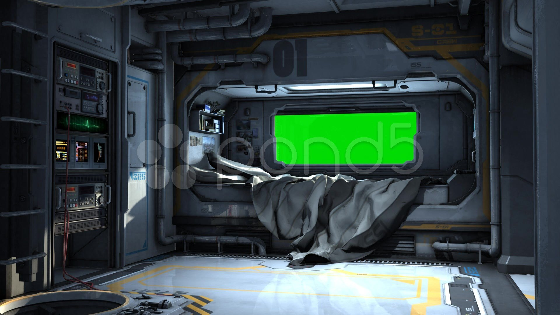 Best Scifi Spaceship Bedroom Video Background Green Screen With Pictures