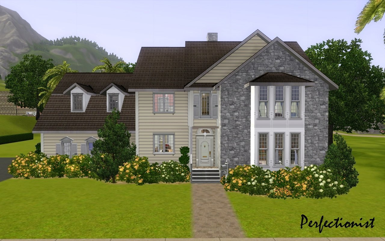 Best Mod The Sims 5 Bedroom Colonial Style House Ts3 Remake With Pictures