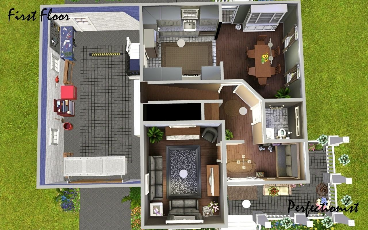 Best Mod The Sims 3 Bedroom Green Country Style House Ts3 Remake With Pictures