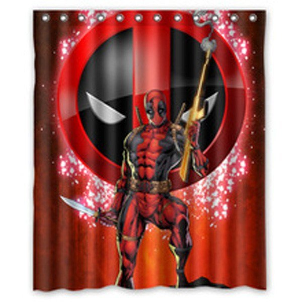 Best Marvel Deadpool Shower Curtain Bathroom Bedroom With Pictures