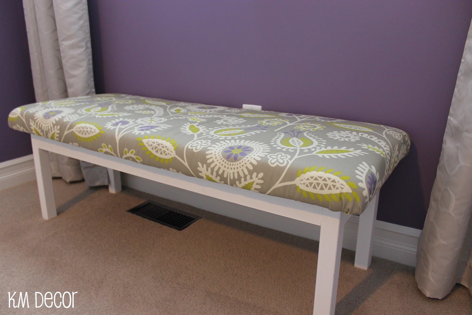 Best Km Decor Diy Upholstered Bench With Pictures