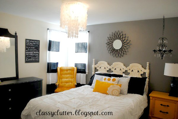 Best Black And Yellow Master Bedroom Makeover Classy Clutter With Pictures