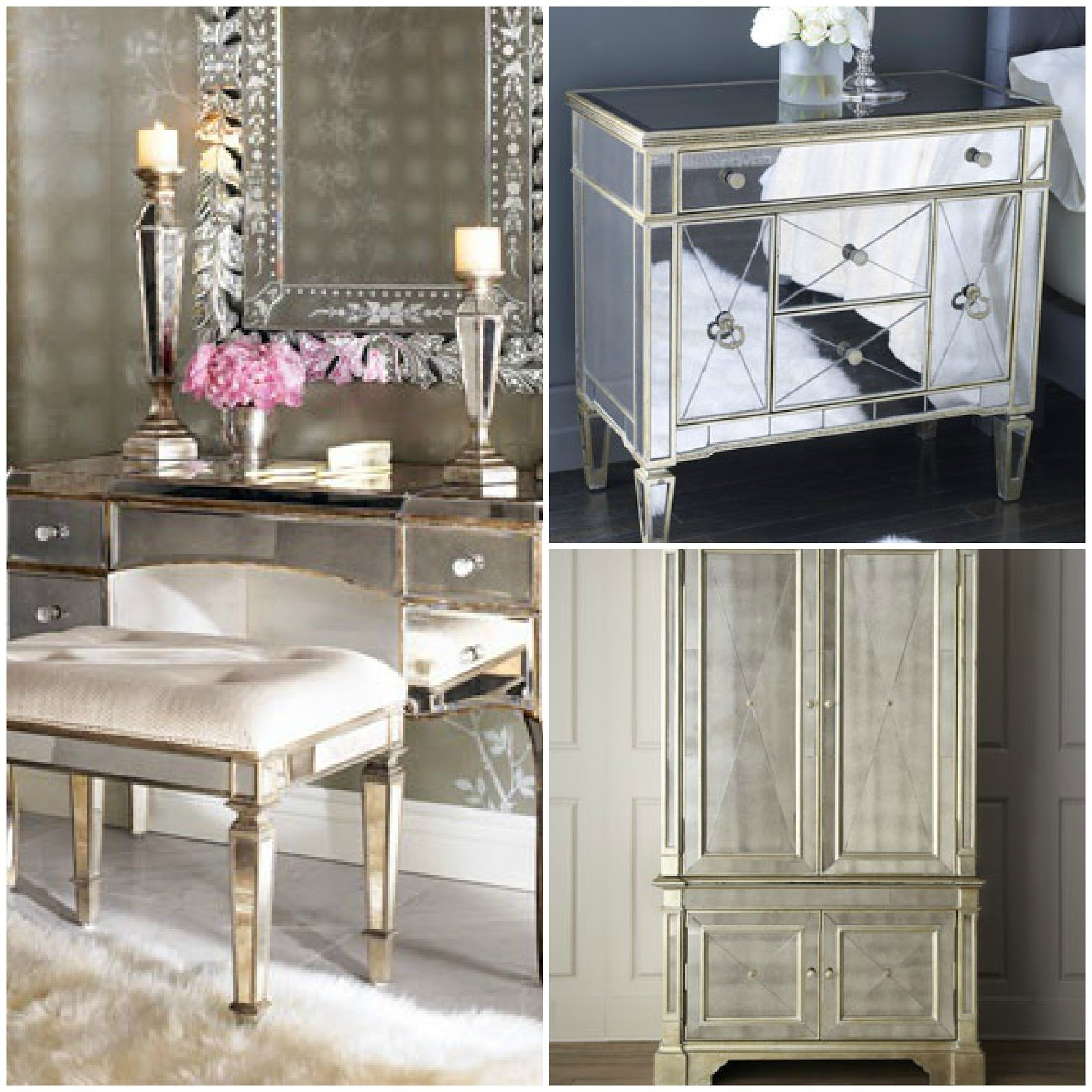 Best Un Coup D Aile Mirrored Furniture With Pictures