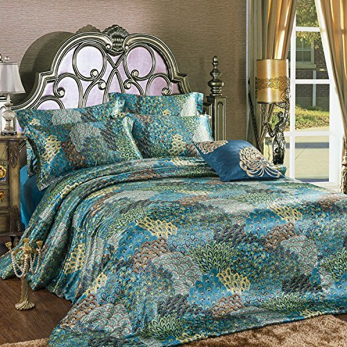Best Peacock Themed Peacock Colored Comforter And Bedding Sets With Pictures