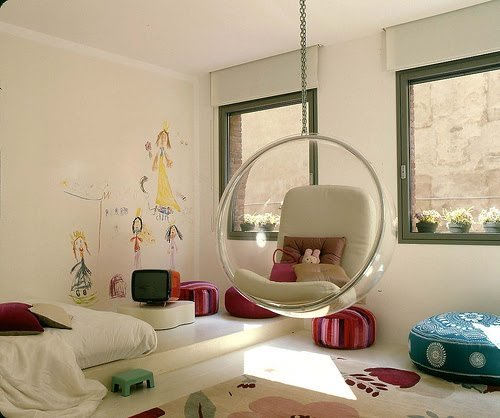 Best The Boo And The Boy Hanging Chairs Swings In Kids Rooms With Pictures