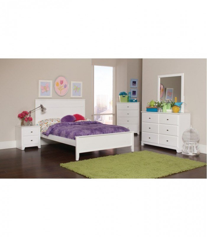 Best 4 Pc Bedroom Set White Full Size Sets 400761F Coaster With Pictures