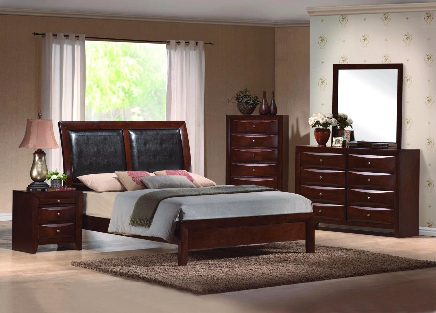 Best Emily Upholstered Low Profile Bed Contemporary Bedroom Set With Pictures