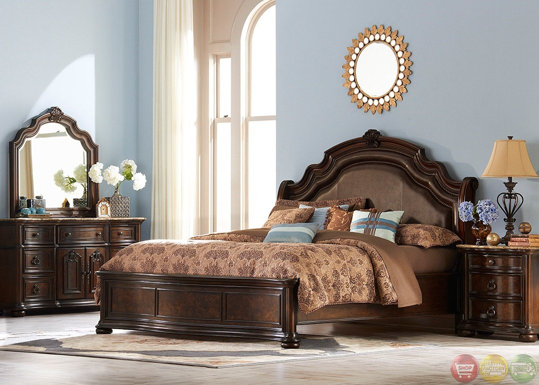 Best Le Grande European Style Burl Wood Platform Bedroom Set With Pictures