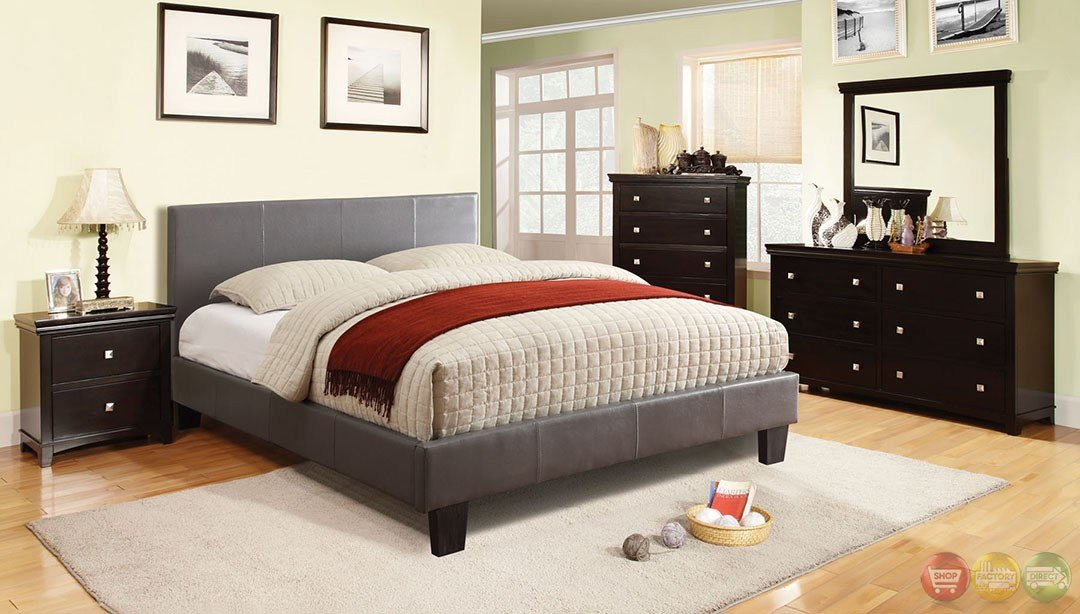 Best Winn Park Contemporary Gray Platform Bedroom Set With With Pictures